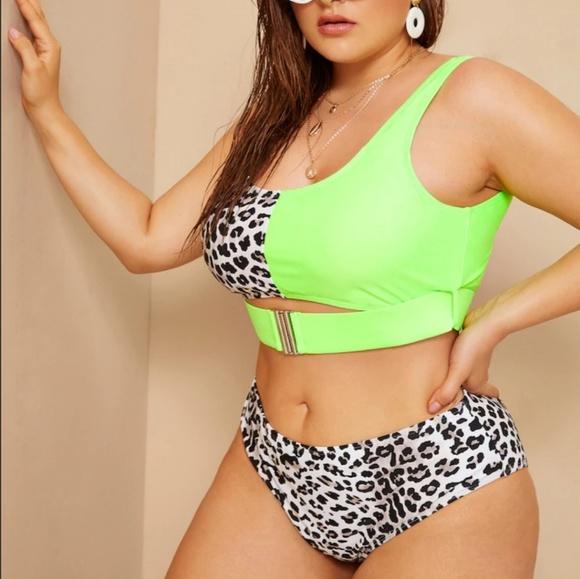 bee05e718b SHEIN Swim | Neon Cheetah Print 2 Piece Bikini | Poshmark